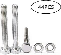 ECKJ Bolt Nuts Screw kit 44pcs M4 Machine Screws Carbon Steel Hex Socket Head Cap Screws Nuts Assortment Kit(Bolt 22pcs Nuts 22pcs)