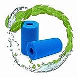LXTOPN Filtro de esponja tipo A, reutilizable lavable para bañera de hidromasaje, filtro de esponja para filtro de piscina tipo A Intex y filtro de piscinas inflables. (2 unidades)