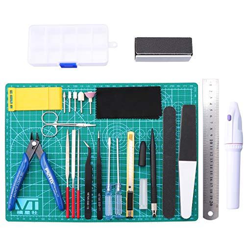 HSEAMALL 26PCS Modeler Strumenti di base Gundam Model Assemble Tools Kit Hobby Building Craft Set