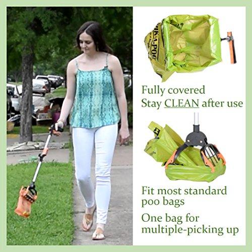 Product Image 1: Pik-A-Poo 7 One-Handed Poop Scoop (28 Inch) By Klean
