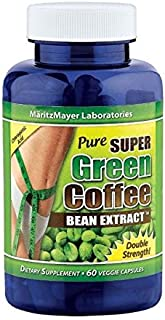 Pure Super Green Coffee Bean Extract: 60 Double Strength - 800mg Veggie Capsules