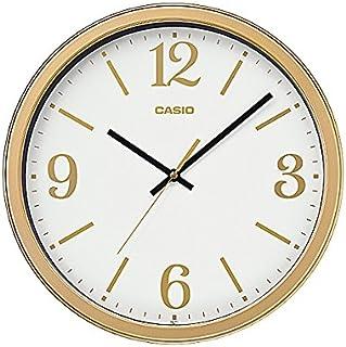 Casio Round Resin Wall Clock (35 cm x 35 cm, Gold, IQ-71-9DF)