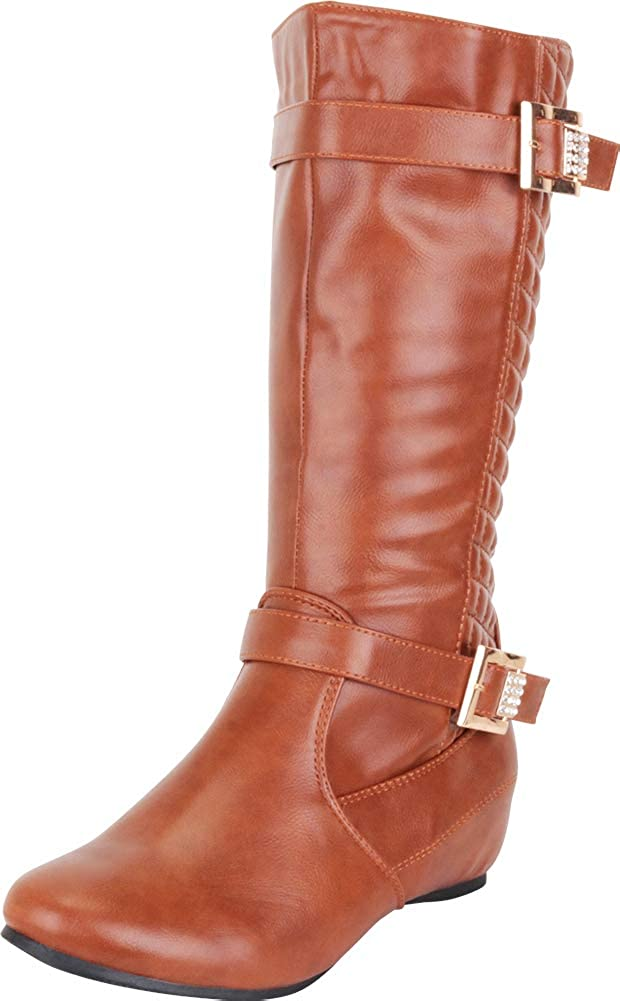 Cambridge Select Women's Quilted Hidden Wedge Riding Boot
