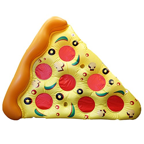 Bada Bing Aufblasbare Pizza Luftmatratze Pizzastück Slice Garten Pool Deko