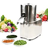 110v 550W Commercial Vegetable Chopper Stainless Electric Vegetable Food Chopper Grinder Processor Machine With an Outlet Baffle to Prevent Food From Spilling Out