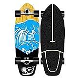 XKAI Skateboard Completo Surfskate Carver CX4 Truck Principiante Adultos Pumping Monopatin Cruiser Maple Longboard Niños Adolescentes Fancy Board, ABEC-11 Rodamientos, 75 * 23CM