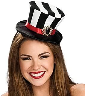 Costume Co Women's Black and White Striped Mini Top Hat