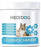 Medidog Gelenkschmiere Premium Gelenkpulver für Hunde und Katzen, Klinisch Geprüft aus 100% Bioaktive Kollagen Hydrolysat, Nährstoffe für Gelenke, Sehnen, Bänder, Haut, Fell, 150g