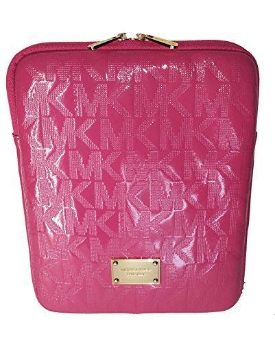 Michael Kors Pink Zinnia Patent Leather Monogram Ipad Tablet Case Sleeve