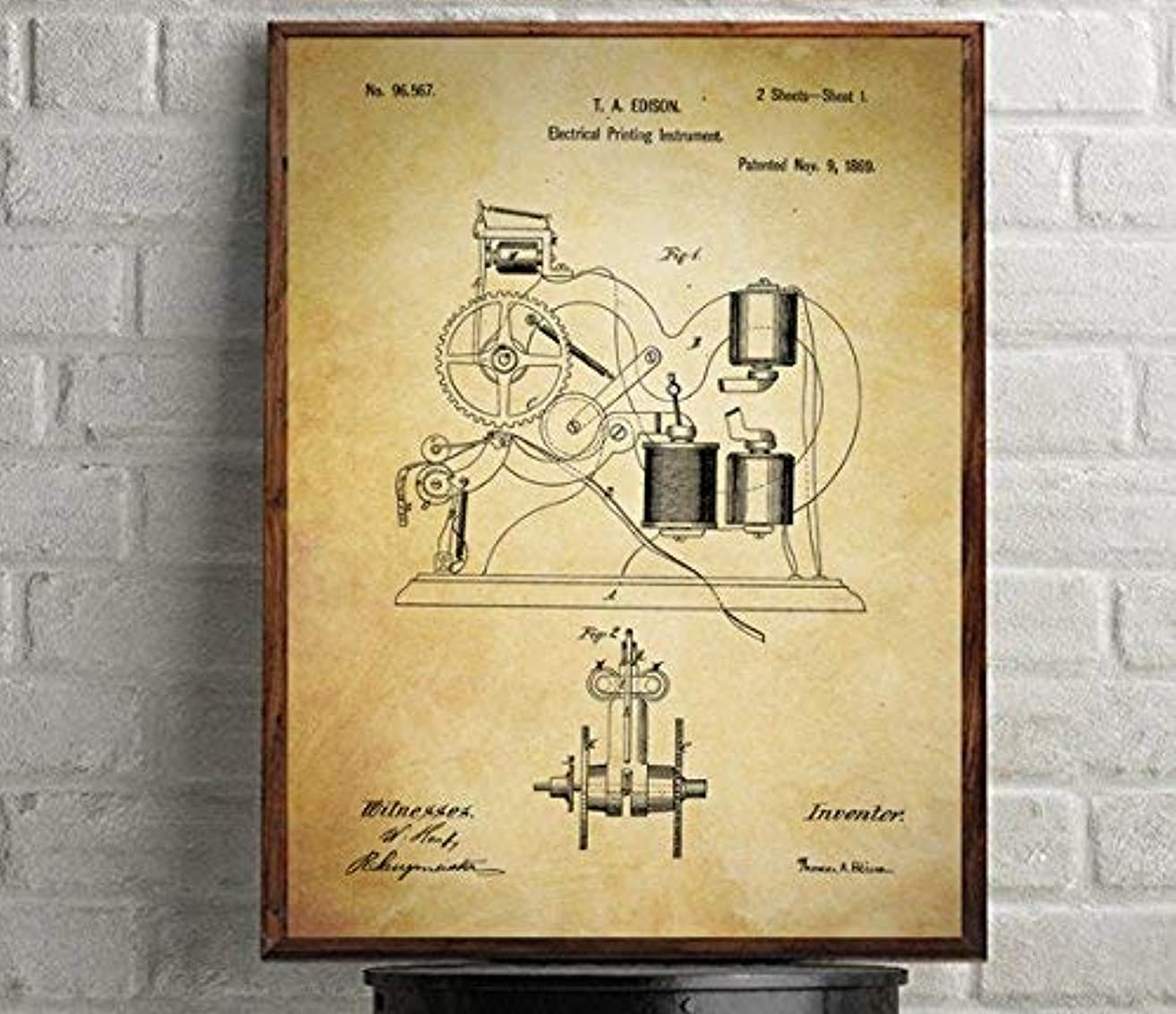 Stock Market Ticker Tape Patent Poster. Best gift for traders and investors
