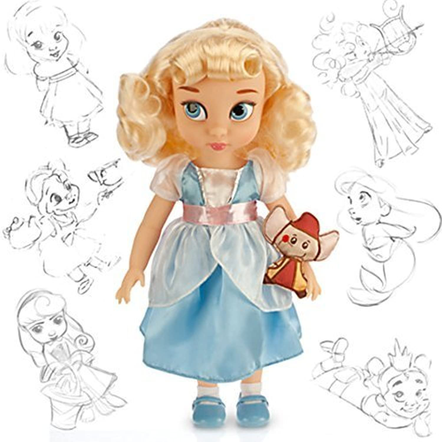 Disney Princess Animators' Collection Toddler Doll 16'' H  Cinderella with Plush Friend Jaq by Disney