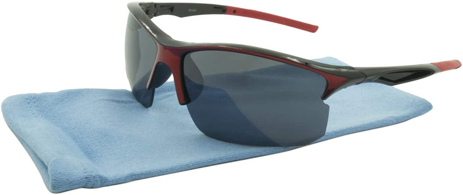 Alta Vision Sunglasses  Sport Moab   Frame  Black and Red Lens  orange99164BLKR