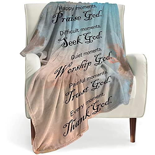 BOOPBEEP Healing Throw Blanket with Inspirational Thoughts and...