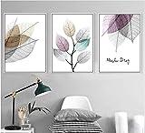 ganlanshu Pintura sin Marco Simple Moderna pequeña Licencia Fresca Pintura Decorativa combinada Arte Mural Lienzo Pintura de la salaZGQ4296 30X45cmx3