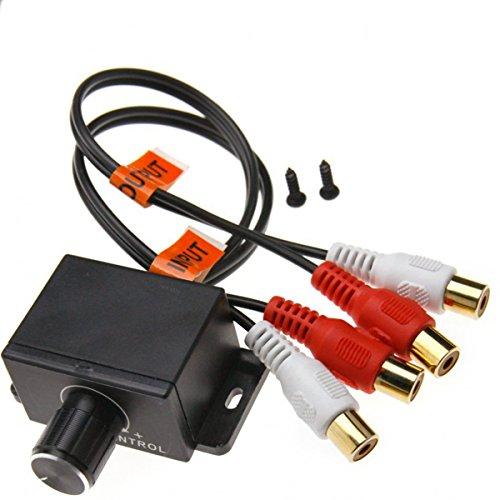 WINOMO Auto Volume Control Knob Remote Verstärker Level Bass Audio Lautstärkeregler mit 2 Cinchstecker