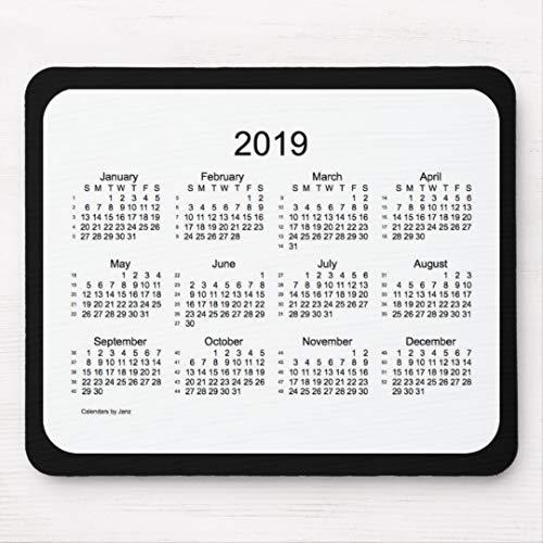 Preisvergleich Produktbild JAMILA 52 Kalender Schwarzweiss-Mousepad der Wochen-2019 52 Kalender Schwarzweiss-Mousepad Der Wochen-2019 Mousepad