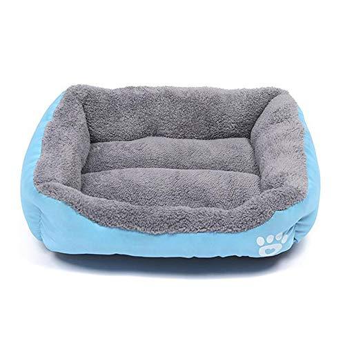Hondenbed, hondensofa, microvezel velours, wasbaar hondenbed met rand, hondenkussen vierhoekig, wasbaar voor katten en kleine middelgrote honden