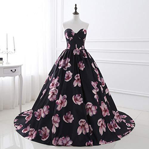 BINGQZ Feestjurk/Liefje Avondjurken Mouwloos Avondjurk Borduurwerk Bloemen Zwart Turks Vestido Gowns