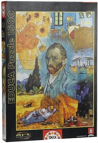 Puzzle 1500 Teile - Van Gogh   7 Gem e in einem