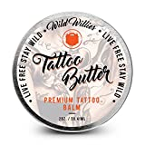 Wild Willies Tattoo Butter-Skin numbing, soothing and healing ointment for tattoos. All-natural aftercare balm made with essential oils and vitamins to accelerate healing while preserving color 2oz