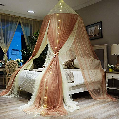 Principessa Dome Zanzara con LED String Light, Letto...