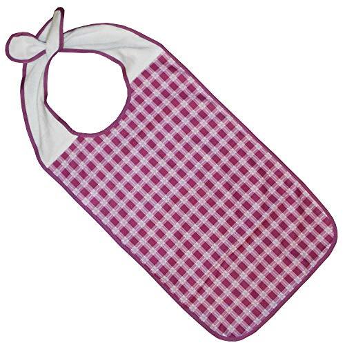 Kleidungsschutz/Ess-Schürze/Lätzchen für Erwachsene mit Steckverschluss, wasserdicht (brombeer)