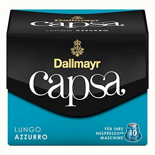 Dallmayr Capsa Lungo Azzurro, Nespresso Kompatibel Kapsel, Kaffeekapsel, Röstkaffee, Kaffee, 50 Kapseln