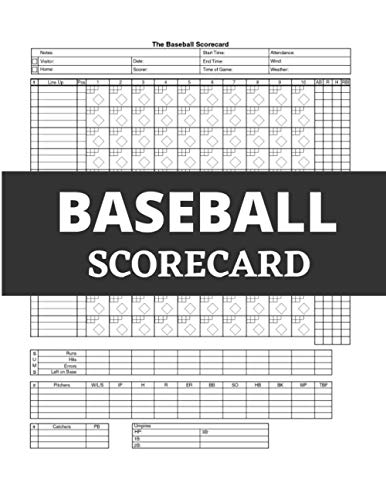 Baseball Scorecard, Baseball Scorebook: 100 Pages Baseball Score Sheet, Baseball Scorekeeper Book, Baseball Scorecard by NisClaroo | Nov 12, 2019