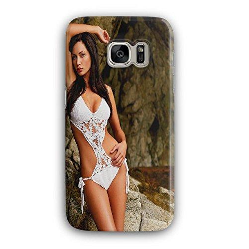 Wellcoda Modell Erotisch Bikini SexyHülle für Samsung Galaxy, S7 nett Rutschfeste Hülle - Slim Fit, Schutzhülle, bequemer Griff