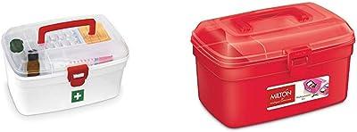 MILTON Medical Box & Plastic Multi-Purpose Box, Colour May Vary Combo