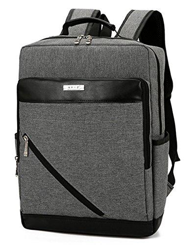 beibao shop Backpack Sacs à Dos pour Ordinateur Portable Affaires Loisirs Coton et Lin Résistant à l'usure Épaule Extérieur Voyager Multi-Fonctionnel Sac à Dos d'ordinateur, Gray