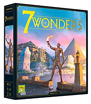 7 Wonders Board Game  BASE GAME  - New Edition   Family Board Game   Board Game for Adults and Family   Civilization and Strategy Board Game   3-7 Players   Ages 10 and up   Made by Repos Production