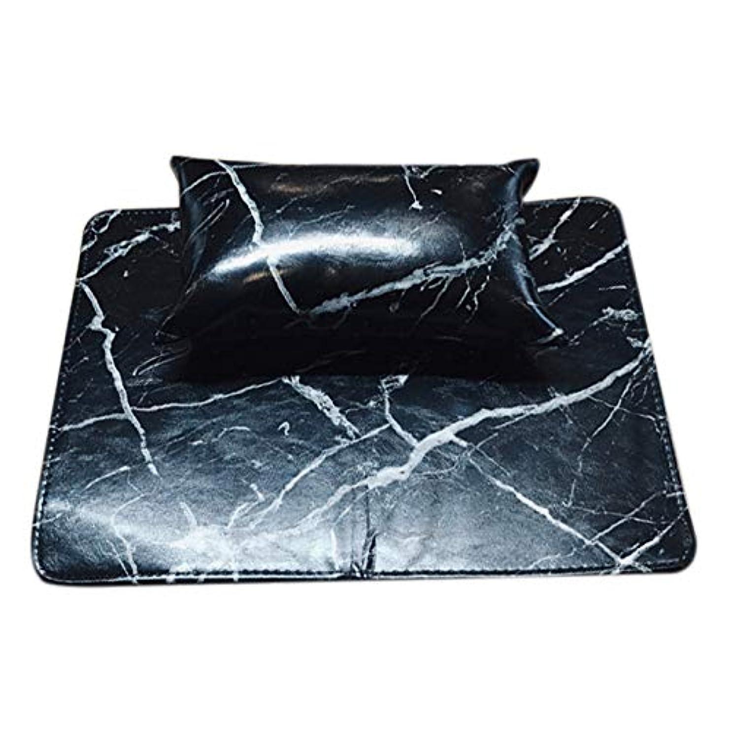 腐食する上記の頭と肩間欠TOOGOO マニキュアツール ソフトハンドクッション枕とパッドレストネイルアートアームレストホルダー マニキュアネイルアートアクセサリーレザー(2個 一体化)ブラック
