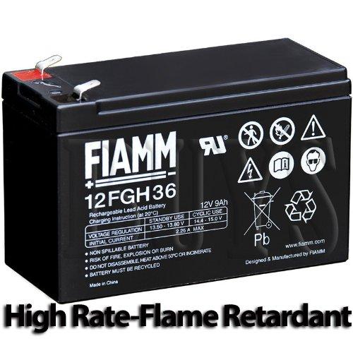 12FGH36 High Rate Flame Retardant SLA AGM 12v 9ah Battery replaces HR1234W F2 FR, PWHR1234W2FR, RBC2, NPX-35, NPX35-FR, NPX-L35 FR, NP7-12T FR, NP7-12FR, HR8-12 FR, BP8-12 FR, BP7.5-12 FR, PE12V7.2 F2, LC-R127R2P1, LC-P127R2P1, LC-R12V7.2P1, LC-R127P1, LC-R127R2PG1, UP-RW1236P1