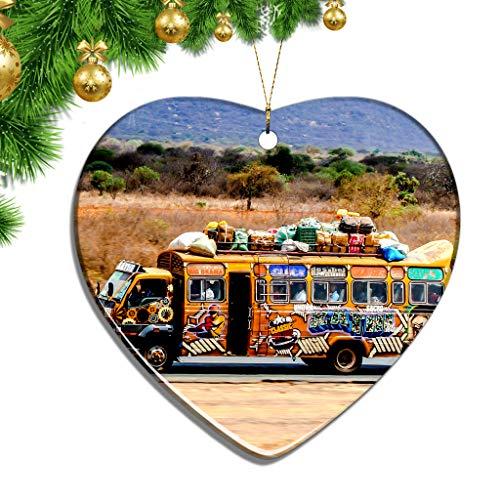 Hqiyaols Ornament Massai-Dorf Kenia Weihnachten Zierschmuck Ornamente Keramik Blatt Souvenir Stadt Reise Geschenk Baum Tür Fenster Decke Deko