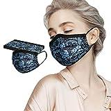 Subfamily10Pcs Erwachsene Einmalig Gesichtsschutz Baumwolle Einstellbarer Facecover, Einweg-Mundschutz Mit Spitzendruck Anti-Staub Mode Schal, Mundschutz,Mund- Und NasenschutzhüLle
