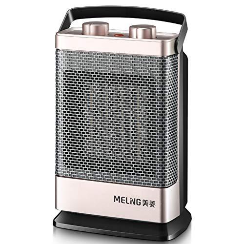 XMZDDZ Mini Ventilador De Calentador Sin Cuchillas, Termoventiladores con Termoventiladores con para Casa Oficina Termoventiladores con Suelo-pie Calentador De Espacio De Cerámica-champán