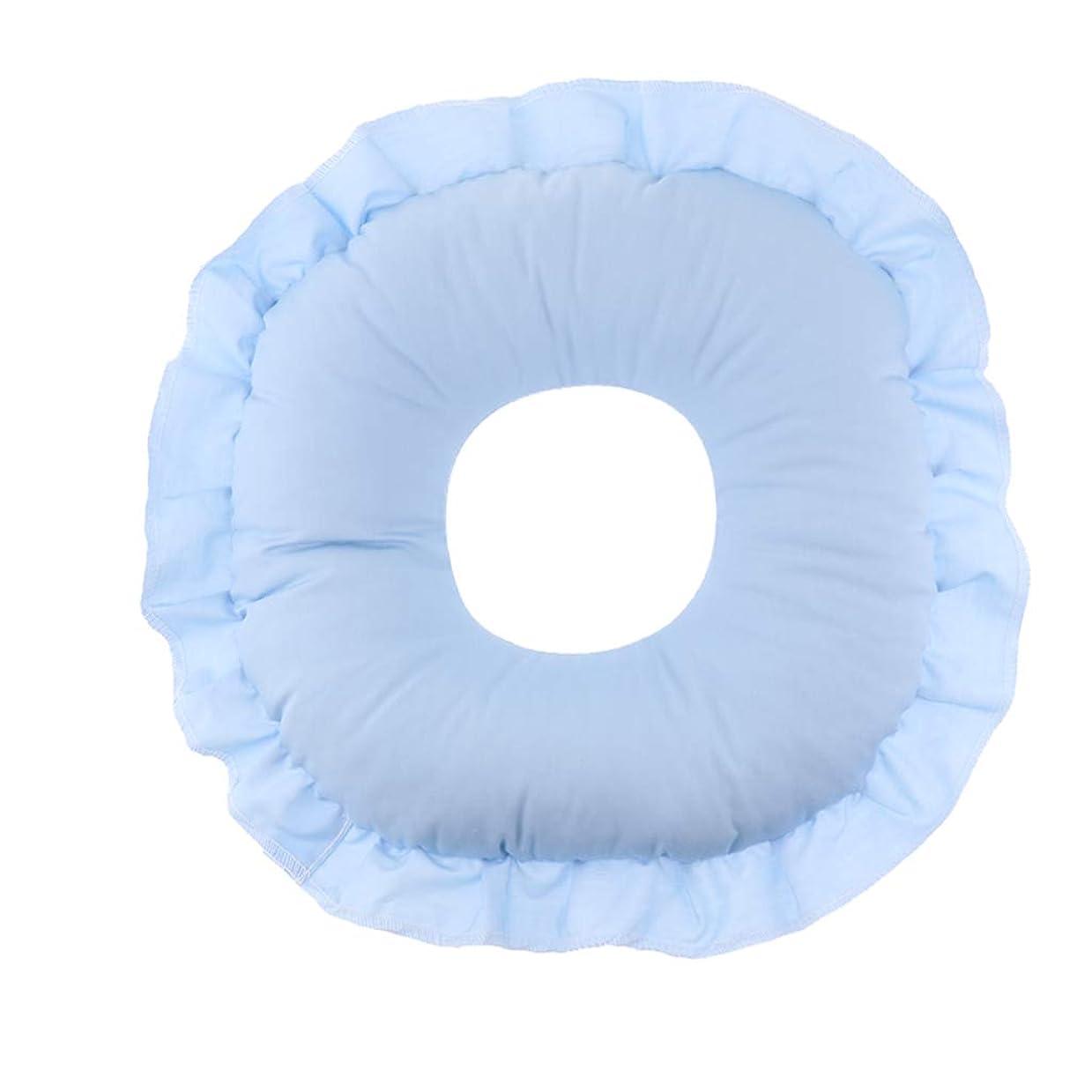 約束する連結する便益マッサージテーブルピロー フェイスピロー 顔枕 フェイスクッション 柔軟 洗えるカバー 全3色 - 青
