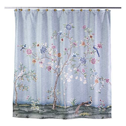 SKL HOME by Saturday Knight Ltd. Spring Blooms Shower Curtain, Aqua