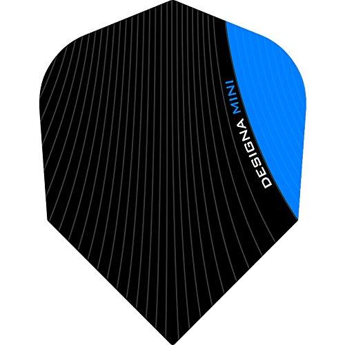 Designa Infusion Dart Flights–Mini Aqua Blau–5sets (15)–inklusive Darts Ecke gebogen Kugelschreiber