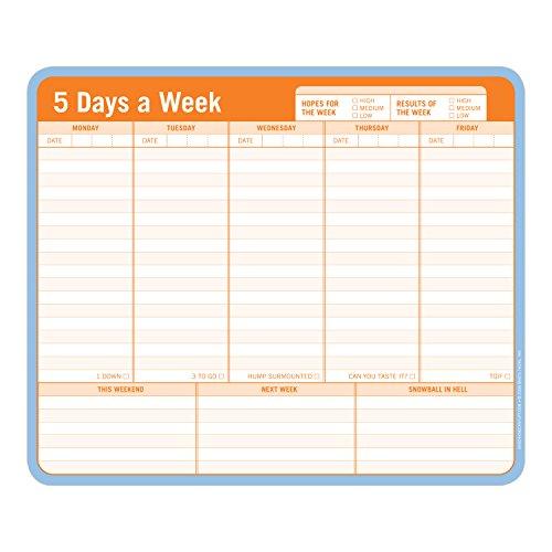 Knock Knock 12600 5 Days a Week Paper Mousepad