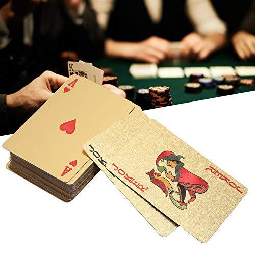 DWMD Cartas de póquer, Naipes portátiles de los Juegos de Mesa, Juegos de Mesa para el hogar del Partido(Golden Box)