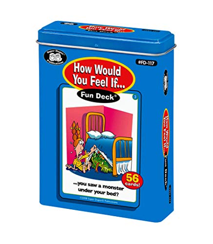 Super Duper Publications | How Would You Feel If Fun Deck | Understanding Feelings and Emotions Flash Cards | Educational Learning Materials for Children