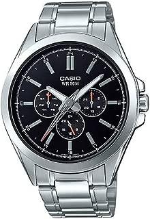 Casio MTP-SW300D-1AV Men's Precisionist Stainless Steel Sweep Second Hand Multifunction Watch