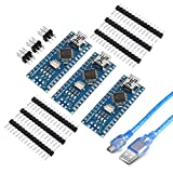 AITRIP for Arduino Nano V3.0, Nano Board CH340/ATmega328P With USB Cable, Compatible with Arduino Nano V3.0 (Nano x 3 With1 Cable)