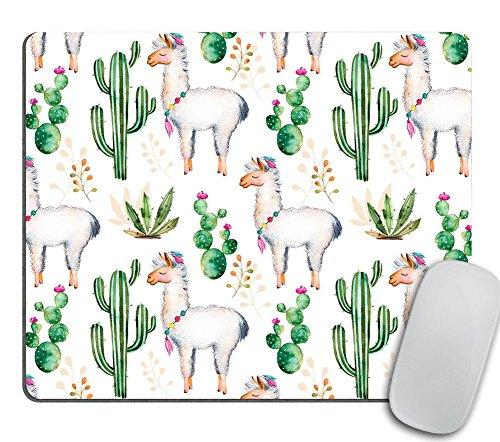Llama Love Desk Set, Mouse Pad Cacti, Desert, Alpaca Mousepad, Desk Accessories, Llama Gift, Cubicle Decor, Office Gift