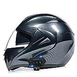 YALIXING Casco De Moto Modular Bluetooth Integrado Marcación por Voz/Llamada Manos Libres Casco De Motocicleta con Visera Solar Doble Certificado ECE/Dot Adulto (Color : I, Size : M/Medium 57-58cm)
