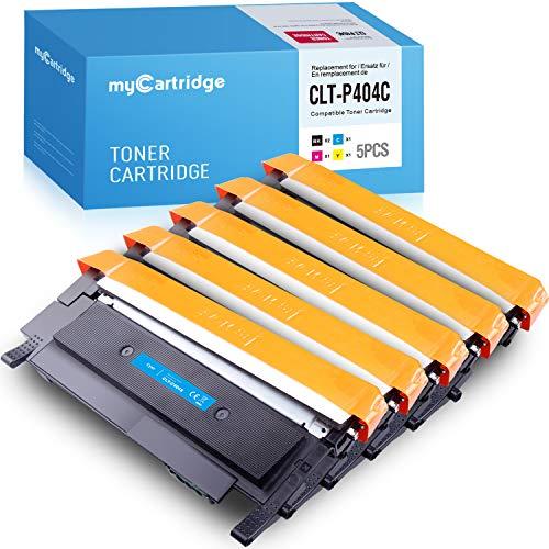 Toner MyCartridge 5 compatibile con CLT-P404C per Samsung Xpress c480fw c480w C480 C480FN C430 C430W (2 neri / 1 ciano / 1 magenta / 1 giallo)
