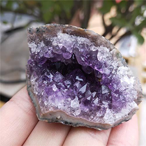 ACEACE 90g Natur Brasilien Amethyst Kristall Druse Cluster lila Quarz Stein Cluster