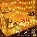 Globe String Lights for Bedroom Battery - 33ft 100 Led String Lights with Remote Controller,Battery Operated String Lights,Decorative Lights for Party/Wedding Outdoor/Indoor Garden,Christmas Lights